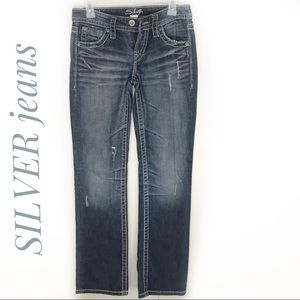 Silver Lola straight jeans